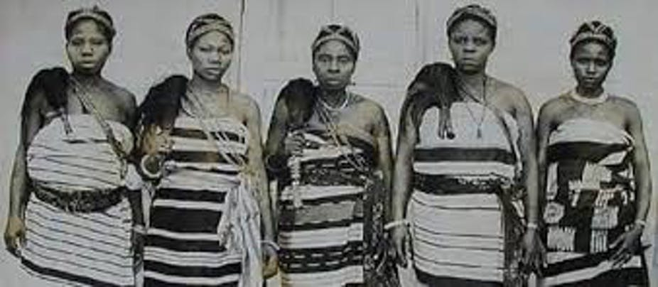 Leaders of the Aba women's protest against a tyranical warrant chief in Nigeria in 1929. National Museum of Unity, Nigeria